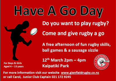 Have A Go Day Glenfield Rugby