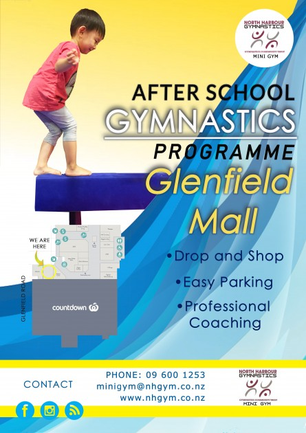 Glenfield Mall Gymnastics poster
